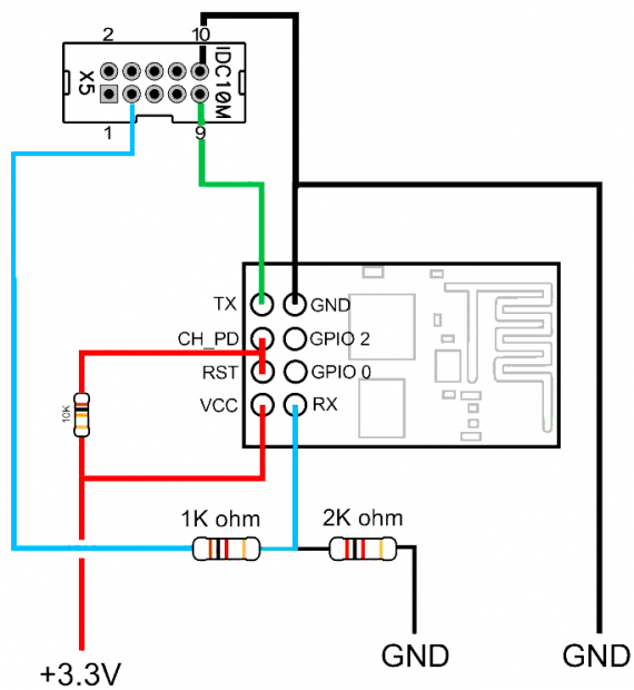 ESP8266 to ZX EVO